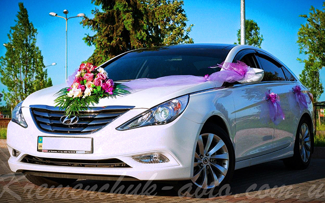 Аренда Hyundai Sonata на свадьбу Кременчуг