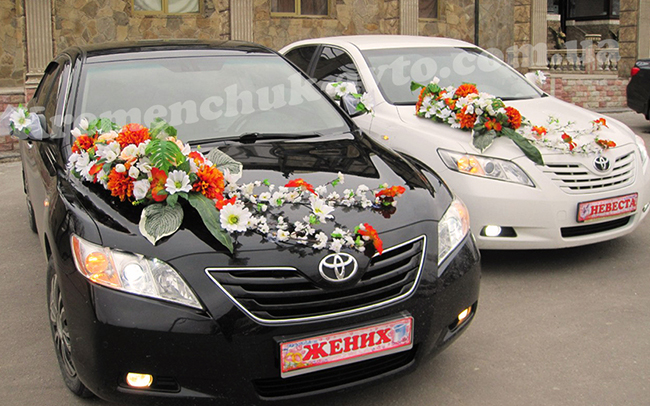 Аренда Toyota Camry 40 на свадьбу Кременчуг
