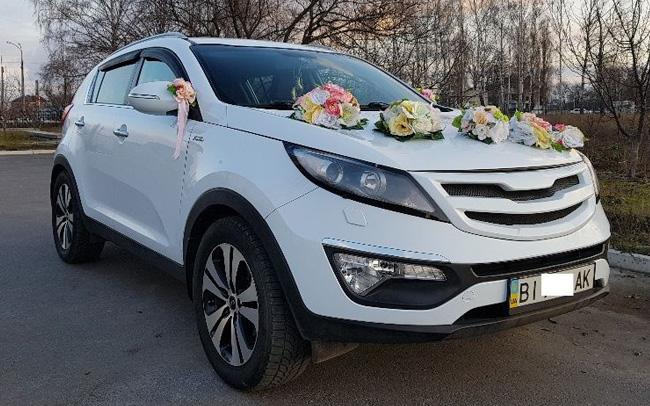 Аренда Kia Sportage Рестайл на свадьбу Кременчуг